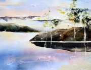 Laurie McAmmond, 'Morning across Rebecca Spit', watercolour