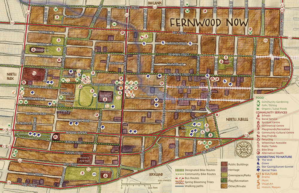 Fernwood Now Community Green Map
