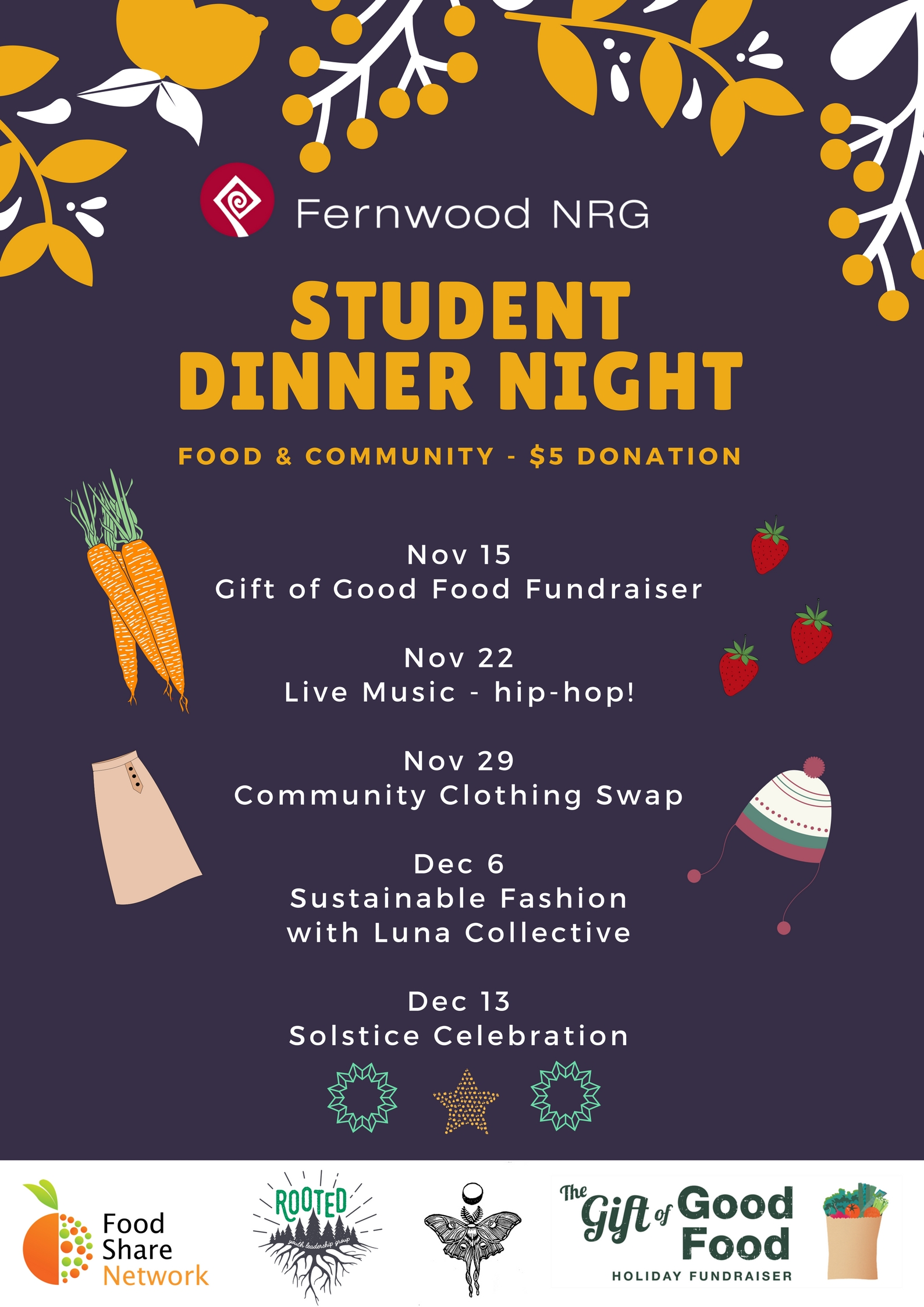 Fall Updates - Student Dinner Night