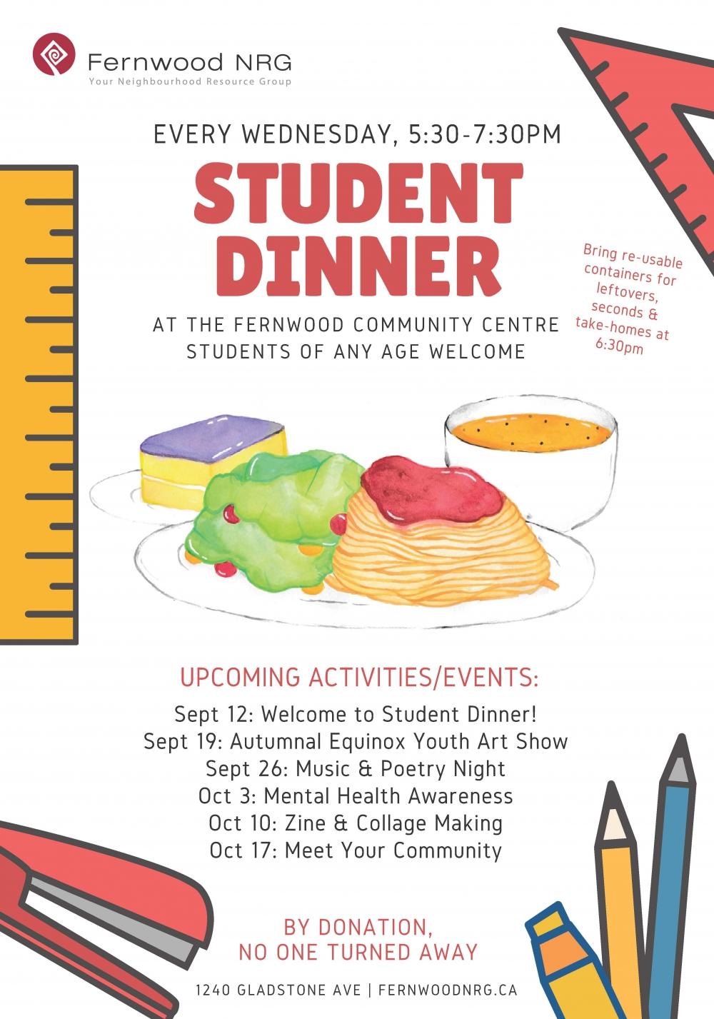Fernwood Student Dinner 2018
