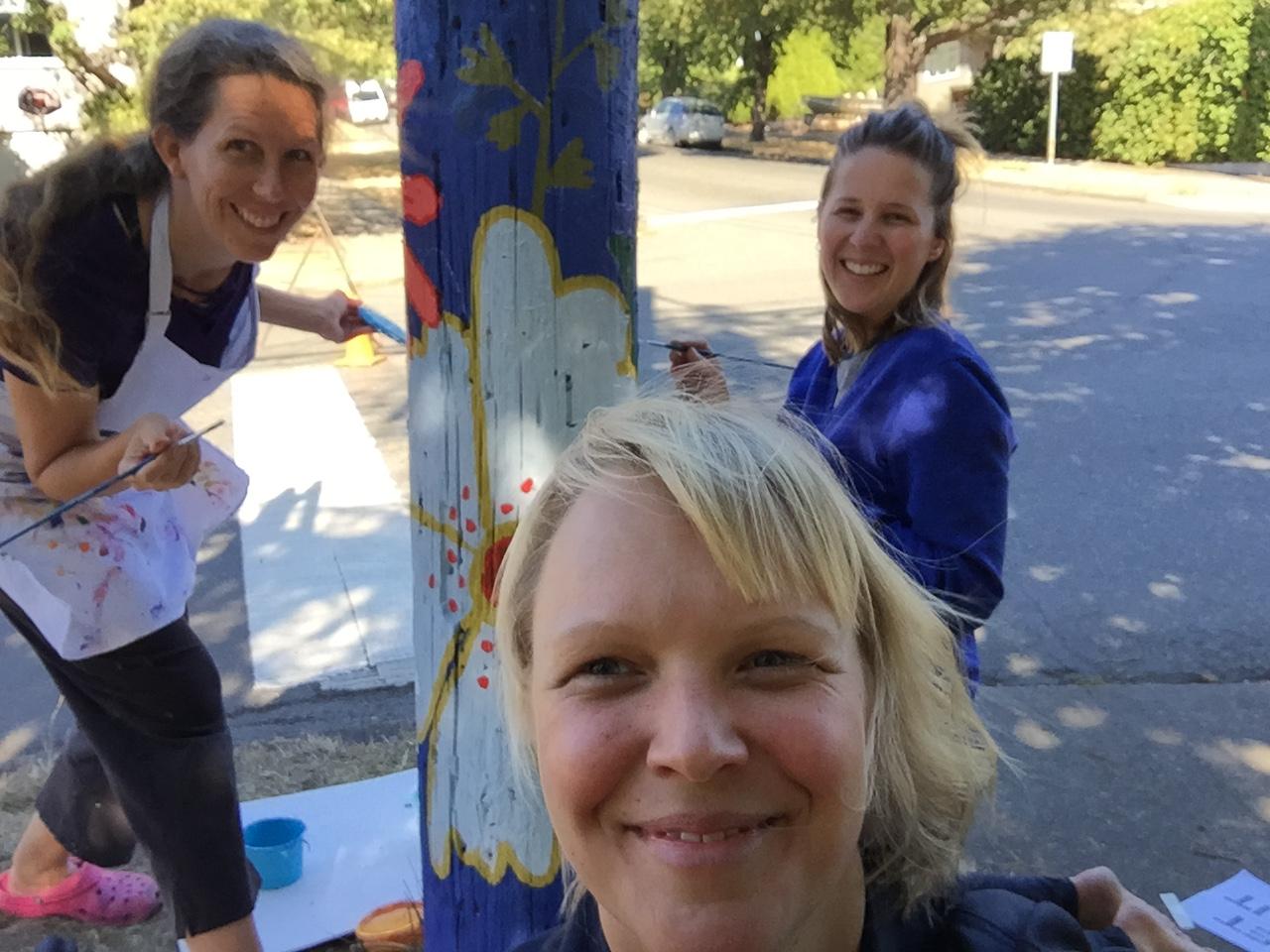 Fernwood Pole Painting Project