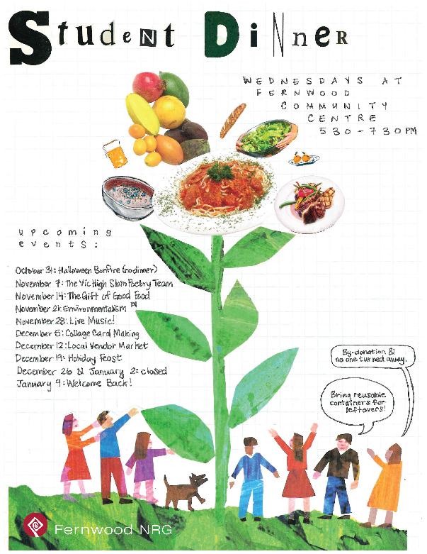 Fernwood Student Dinner Poster Collage 2018