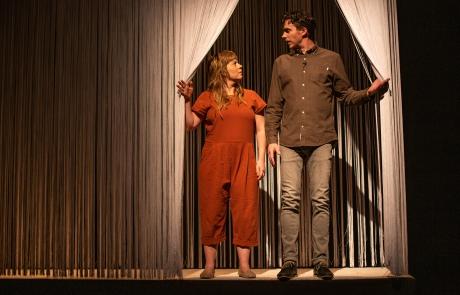 Emelia Symington Fedy and Daryl King in KISMET, things have changed. Photo: Matt Reznek