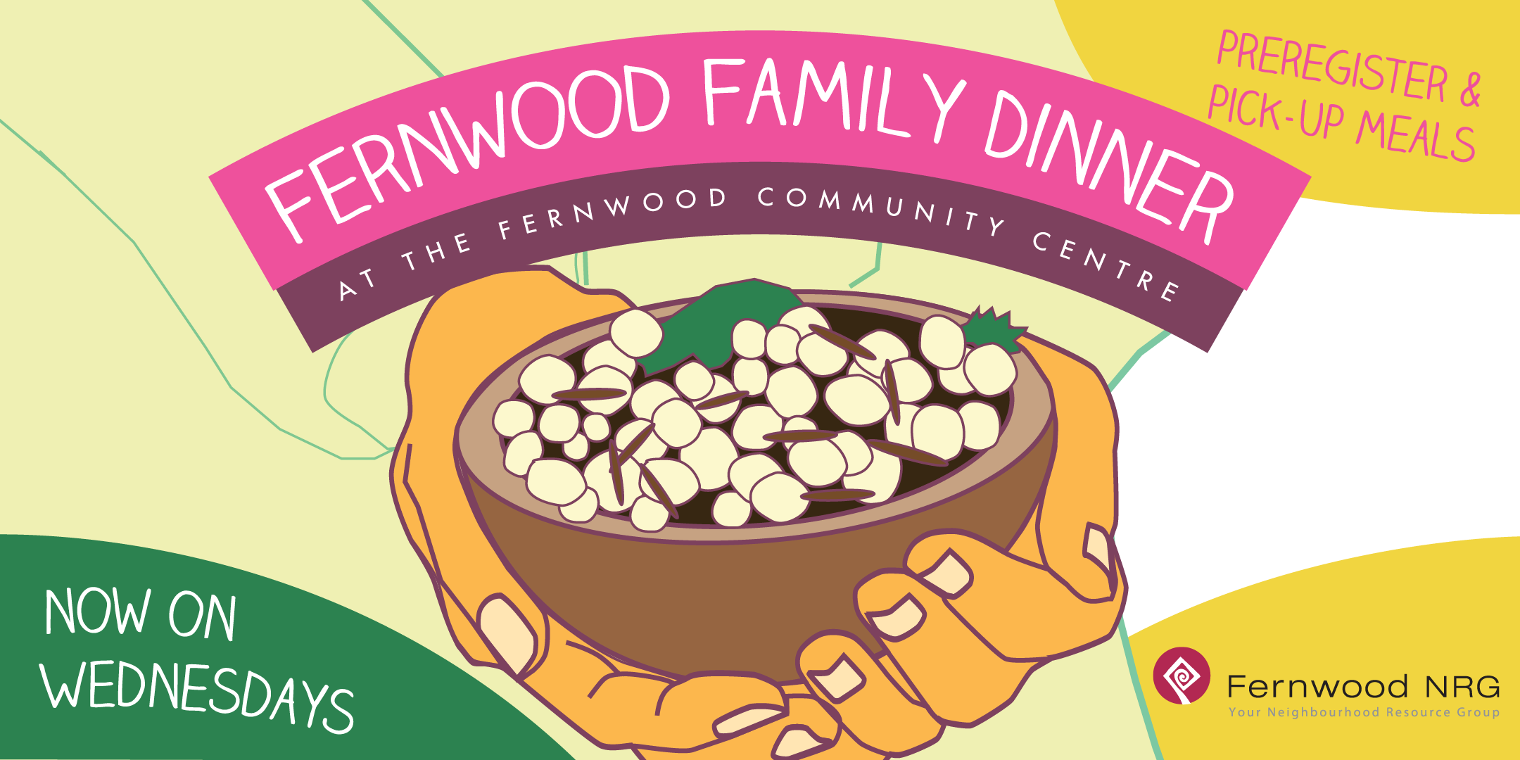Fernwood Family Dinner Banner 2020