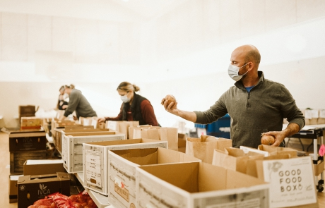 Packing Gift of Good Food. Photo - Aly Sibley