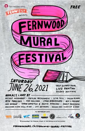 Fernwood Mural Festival Poster