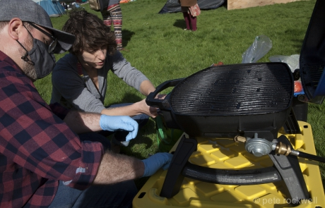Friday BBQ at Stadacona Park - Photo by Pete Rockwell