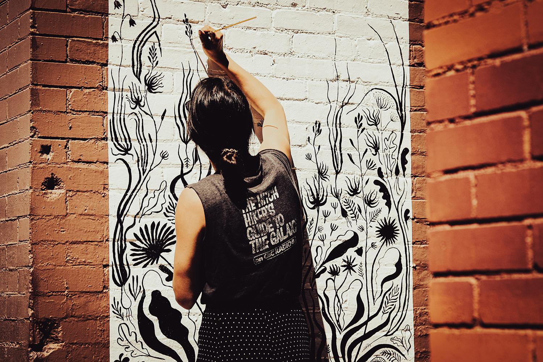 Leya Tess - Fernwood Mural Festival - Fernwood NRG